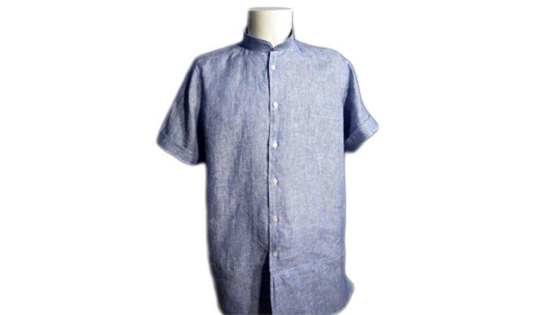 Camisa de hombre con cuello mao