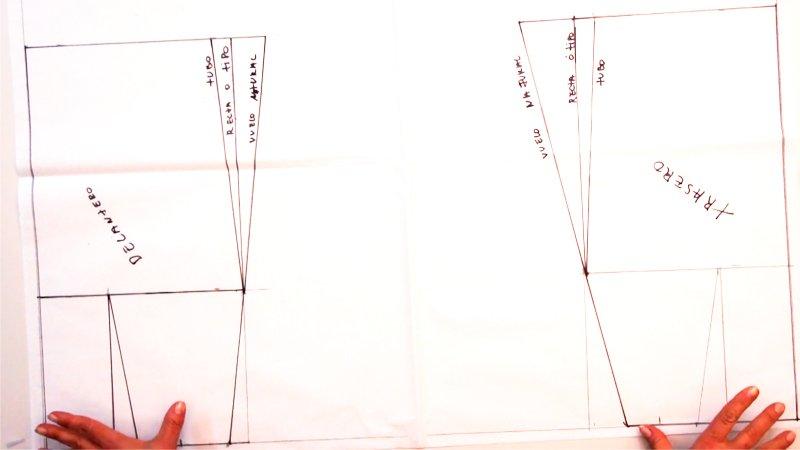 Patrón de falda recta, vuelo natural y tubo