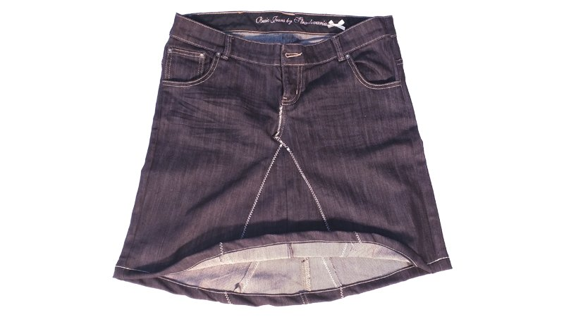 Transformar un pantalón en una falda