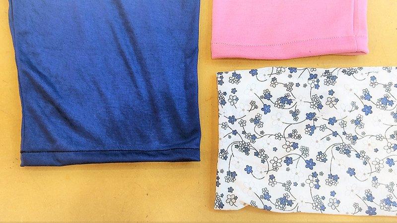 Acortar mangas y bajos de un pantalón de pijama