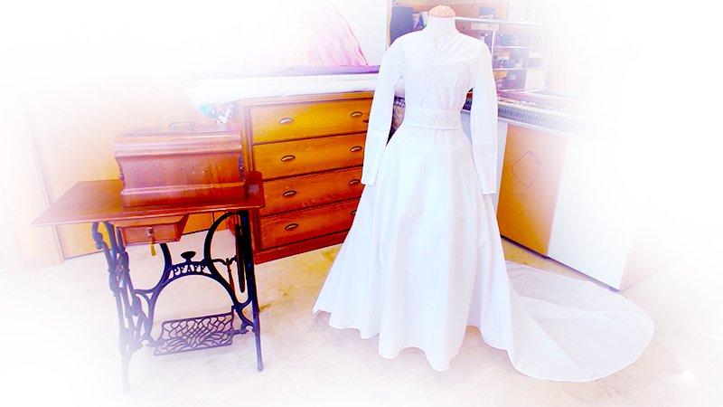 Traje de novia clásico